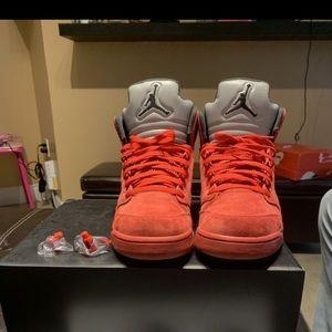 """Air Jordan Retro 5's """"Red Suede"""""""